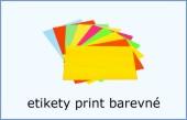 Etikety print barevné
